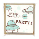 Pack Of Six Space Party Invitations