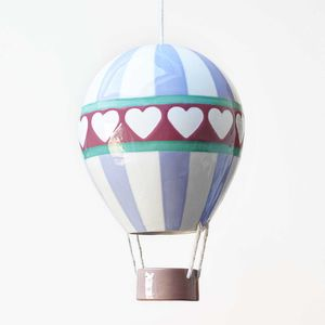 Love Heart Ceramic Hot Air Balloon - personalised