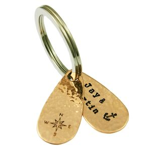 Double Teardrop Fob Copper Keyring - view all sale items