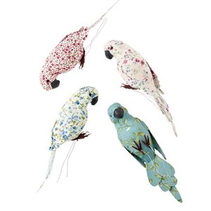 Large Fabric Covered Birds Ornament / Gift Wrapping