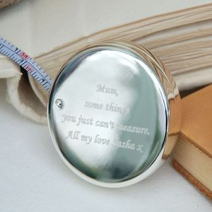 Can't Measure Love Silver Tape Measure - gifts for the home