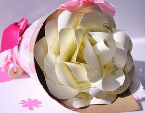 Personalised Grand Mother Paper Rose - seasonal cards