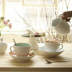 Handmade Two Tone Cup / Saucer - crockery & chinaware