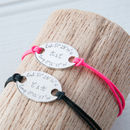 Personalised Oval Plate Bracelets Duo
