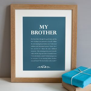 Personalised 'My Brother' Print
