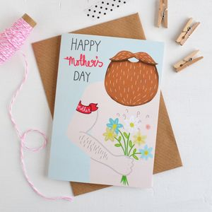 Beardy Mothers Day Card - view all mother's day gifts