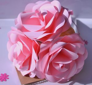 Pink Paper Rosy Posy Bouquet