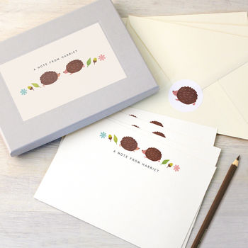Personalised Hedgehogs Writing Set
