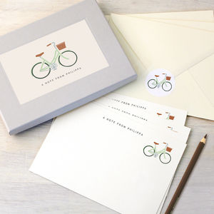 Personalised Bicycle Writing Set - gifts for cyclists