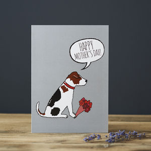 Jack Russell Mother's Day Card