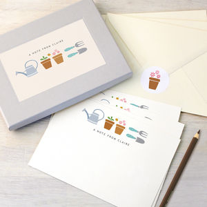 Personalised Gardening Writing Set - writing paper