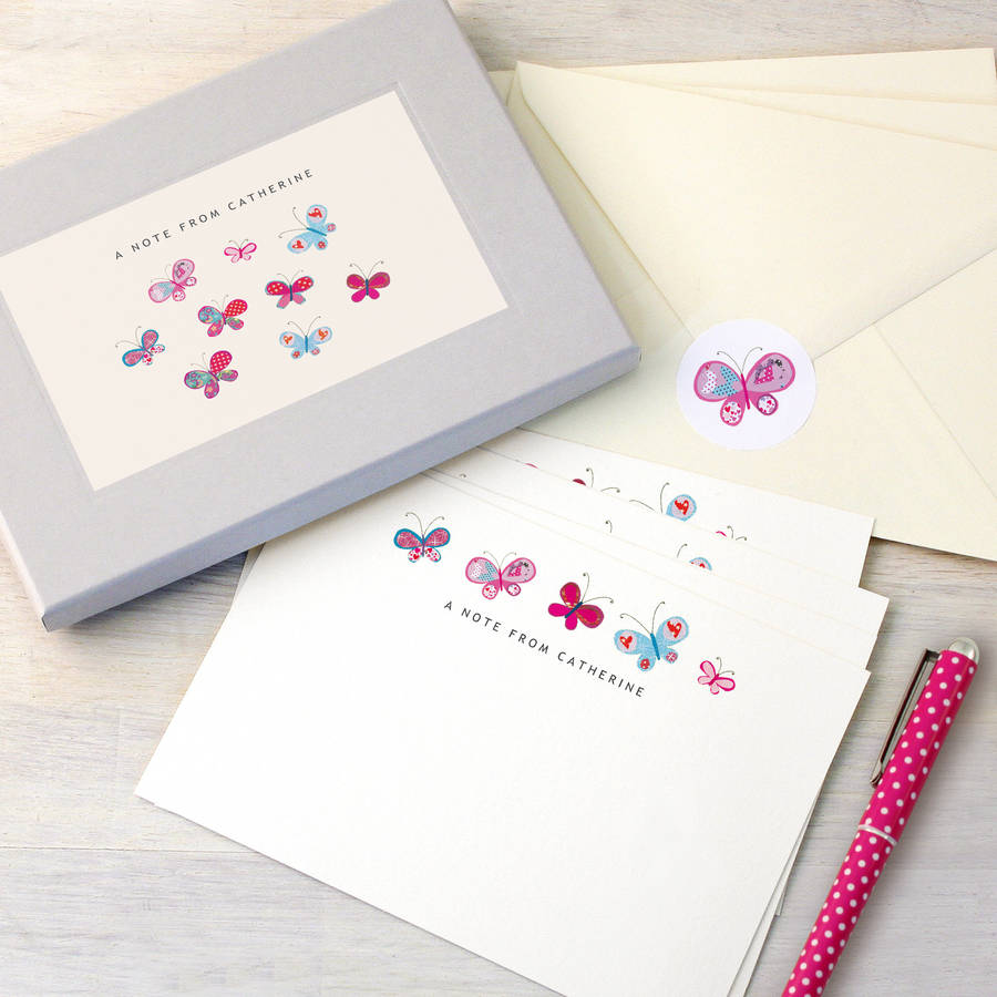 Personalised writing paper sets