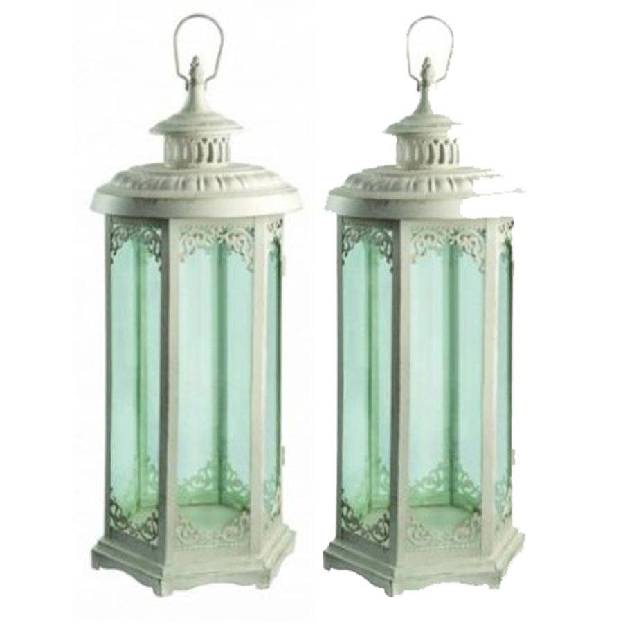 elinor candle lanterns set of two by garden selections