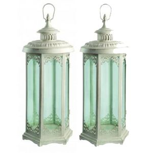 Elinor Candle Lanterns / Set Of Two - candles & candlesticks
