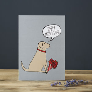 Yellow Labrador Mother's Day Card - mother's day cards