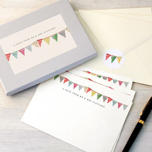 Personalised Bunting Writing Set - notelets