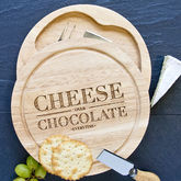 Cheese Over Chocolate Cheeseboard With Knife Set - food & drink