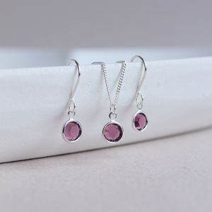 Swarovski Crystal Birthstone Jewellery Set
