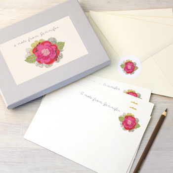 Personalised Flower Writing Set