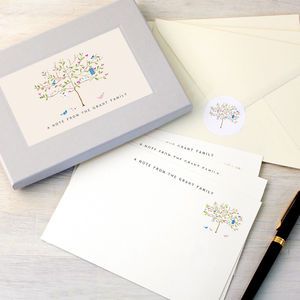 Personalised Tree Writing Set - writing paper & sets