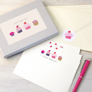 Personalised Cakes Writing Set - stationery