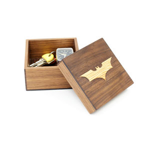Wooden Batman Trinket Box - children's furniture