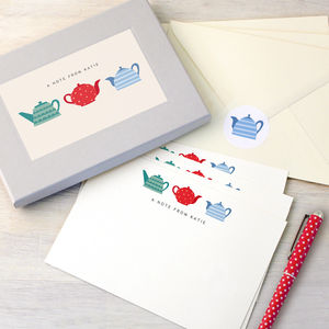 Personalised Teapots Writing Set