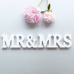 Mr And Mrs Stand Up Wooden Letters