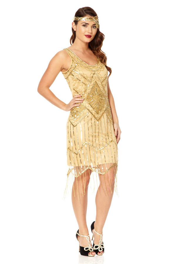 isobel gatsby inspired flapper embellished fringe dress by ...