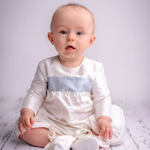 Boys Echo Christening Romper Suit Long Sleeves