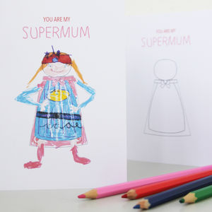 Personalised Supermum Card - mother's day cards