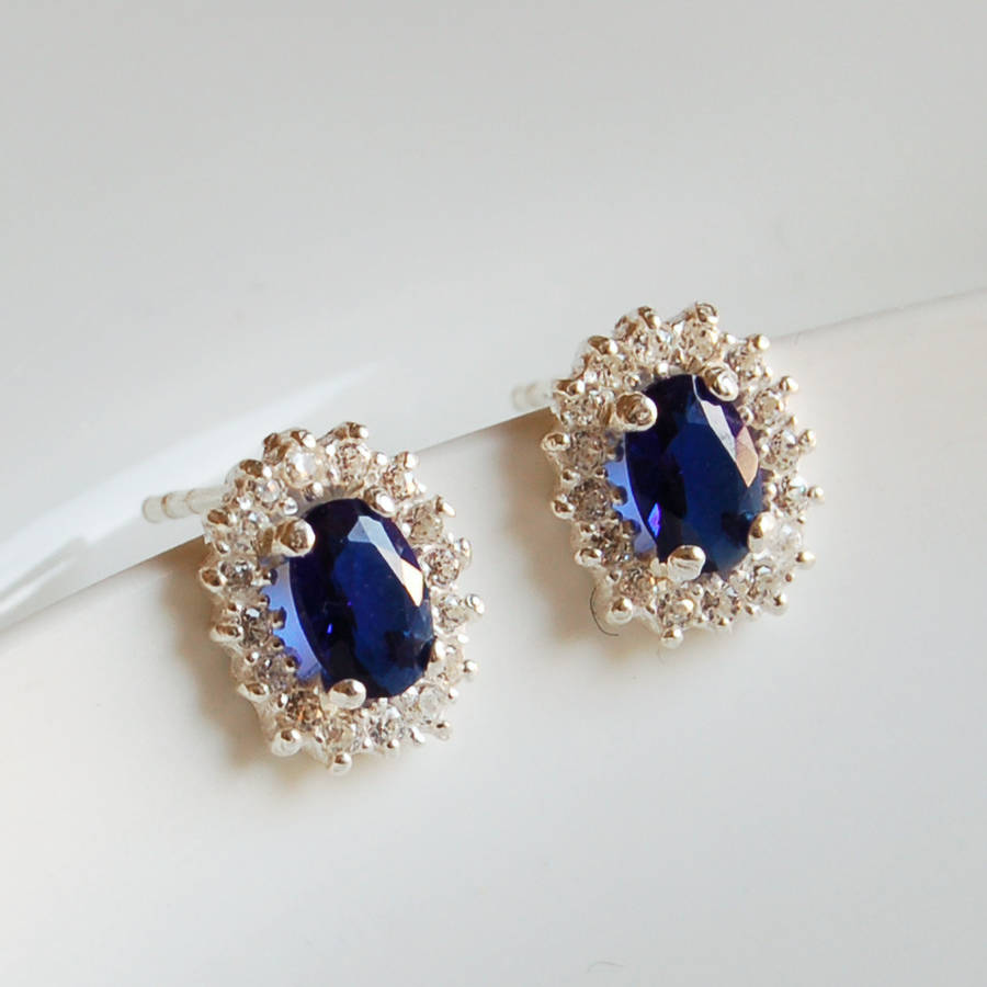 vintage style sapphire earrings by highland