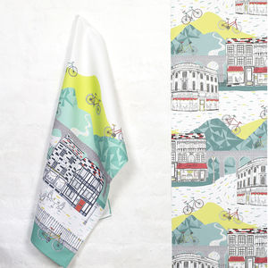 Yorkshire Bike Ride Tea Towel - cooking & food preparation