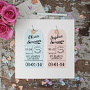 Two Personalised Luggage Tags