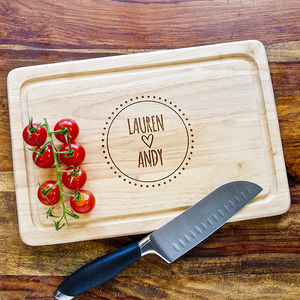 Personalised Couple's Engraved Chopping Board - cooking & food preparation