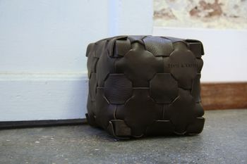 Reclaimed Leather Doorstop