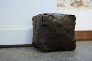 Reclaimed Leather Doorstop - door stops