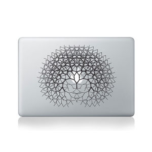 Fractal Tree Vinyl Sticker For Macbook - laptop bags & cases