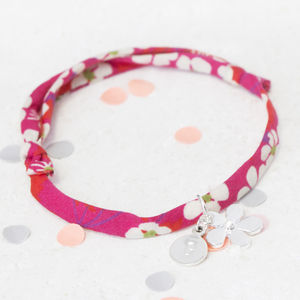 Liberty Print Personalised Friendship Bracelet - personalised