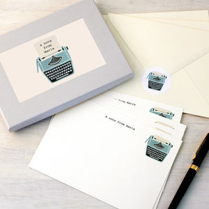 Personalised Typewriter Writing Set - gifts for her