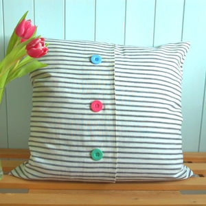 Stripey Cushion Cover - children's room