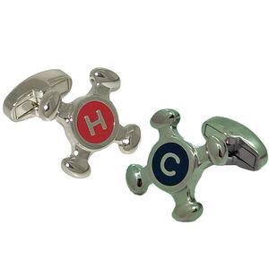 Hot And Cold Tap Cufflinks - cufflinks
