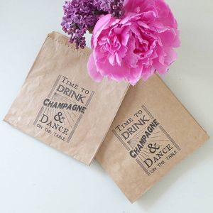 Time To Drink Champagne Printed Favour Or Gift Bags - whats new