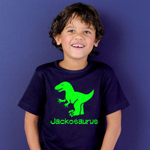 Personalised Dinosaur T Shirt - for under 5's