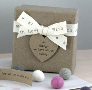 Personalised '10 Things I Love About Mummy' Box - gifts for mothers