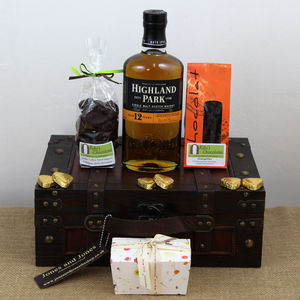 Thank You Gift Of Single Malt Whisky And Chocolates