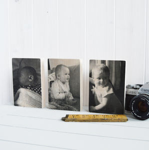 Baby Timeline Photograph Wooden Blocks - gifts from younger children