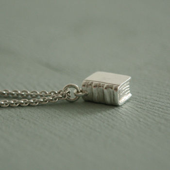 Book Necklace In Sterling Silver