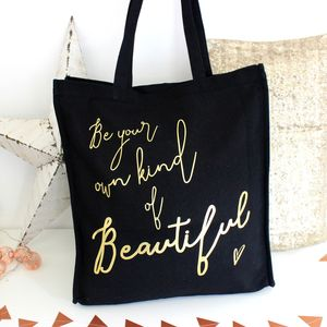 Personalised 'Own Kind Of Beautiful' Metallic Bag - style-savvy