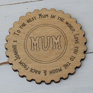 Personalised Mum Message Coaster
